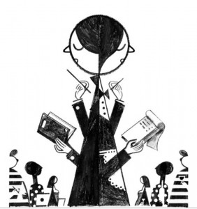 Professor and Waitress