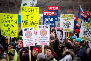 Wisconsin Union Right to Work Protest